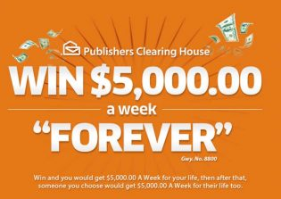 "PCH $5,000.00 A-Week ""Forever"" Giveaway No. 8800"