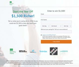 Start the New Year Off Richer Sweepstakes