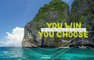 Win a Detours trip to the destination of your choice Contest