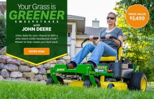 John Deere Better Homes and Gardens Your Grass is Greener Sweepstakes