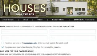 Houses Awards Readers' Choice Awards Sweepstakes