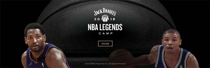 Jack Daniel's NBA Legends Camp Sweepstakes