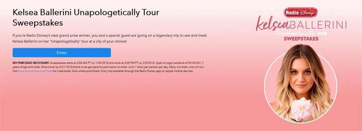 Radio Disney Kelsea Ballerini Unapologetically Tour Sweepstakes