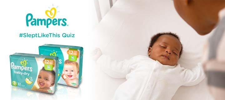 Pampers #SleptLikeThis Quiz Sweepstakes