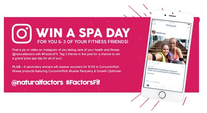 Natural Factors Muscle Recovery SPA Giveaway Contest