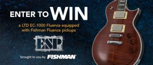Fishman Win an ESP LTD EC-1000 Fluence Electric Guitar Contest