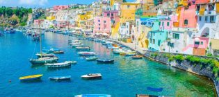 italian island procida is famous for its colorful marina, tiny n