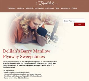 Delilah's Barry Manilow Flyaway Sweepstakes