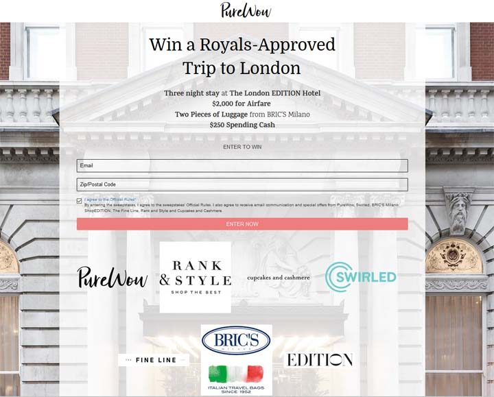 Royals-Approved Getaway to London Sweepstakes