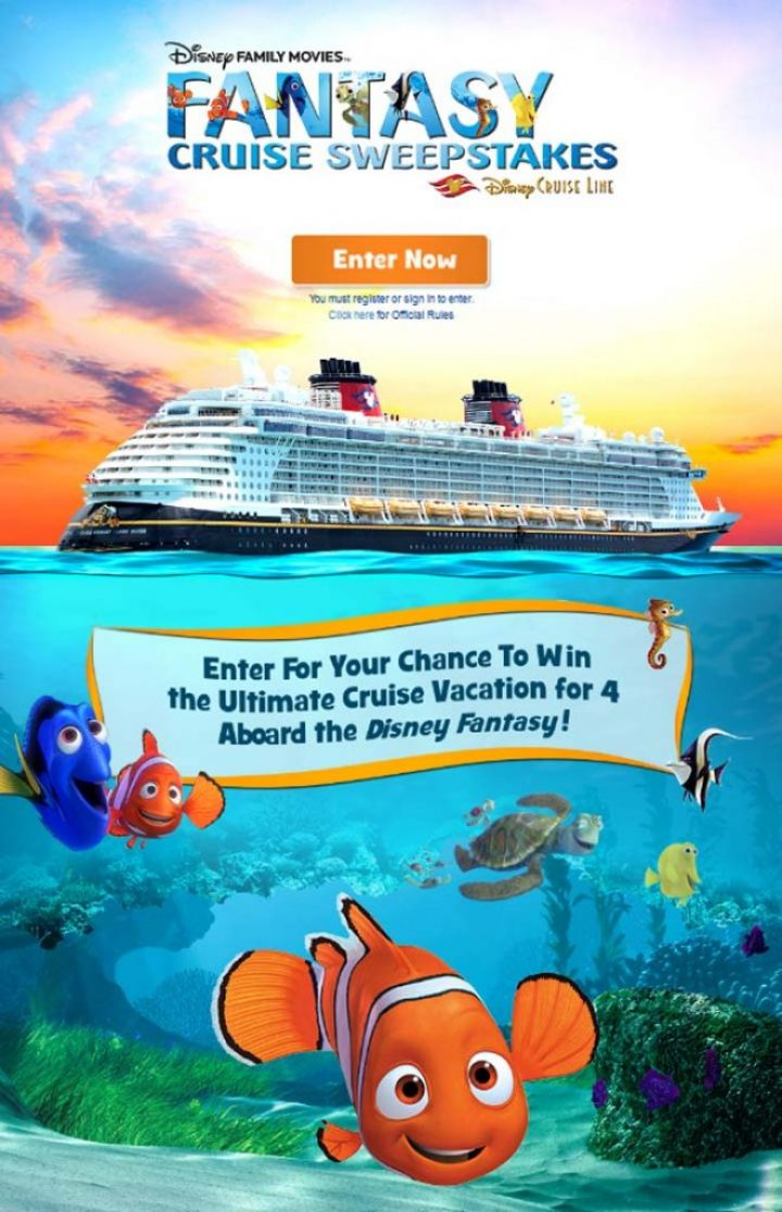 Disney Family Movies' Fantasy Cruise Sweepstakes
