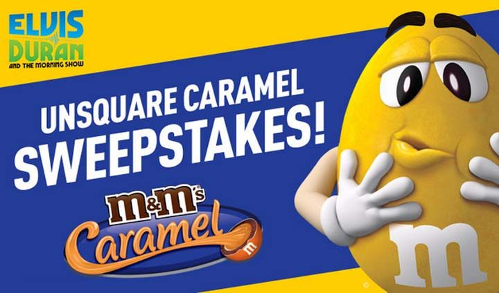 Elvis Duran and the Morning Show's M&M'S UNSQUARED CARAMEL Sweepstakes
