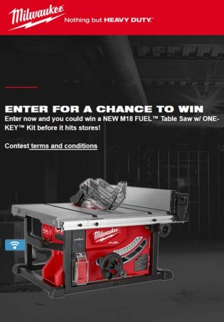 Milwaukee Tools Heavy Duty News Subscription Sweepstakes
