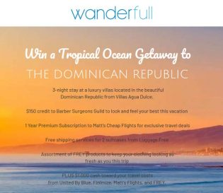 Tropical Ocean Getaway to the Dominican Republic Sweepstakes