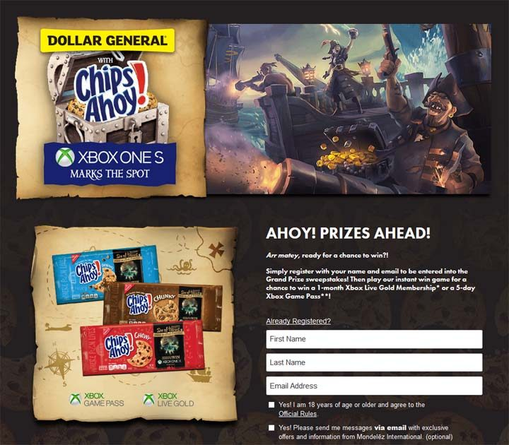 Dollar General Chips Ahoy Xbox Promotion Sweepstakes