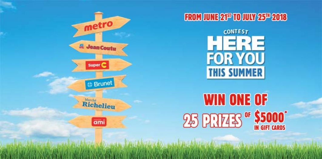 Metro Here for you this Summer Contest