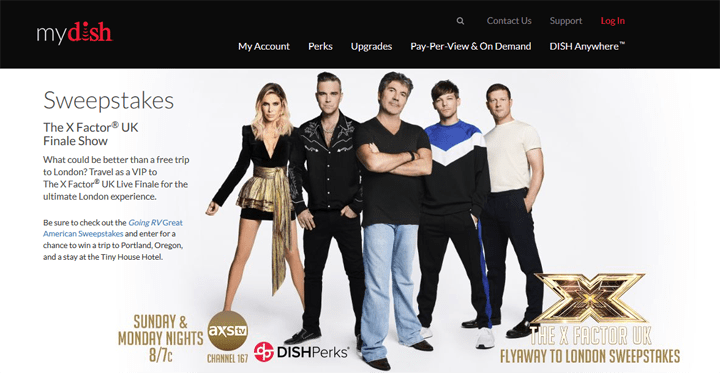 DISH The X Factor UK Finale Show Live in London Experience presented by AXS TV Sweepstakes