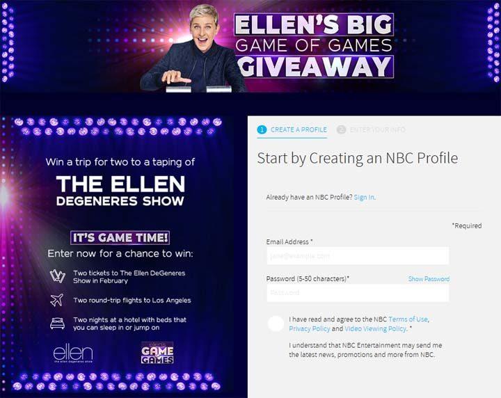 Nbc La Ellen Giveaway