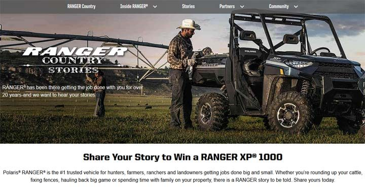 Polaris Ranger Stories Sweepstakes
