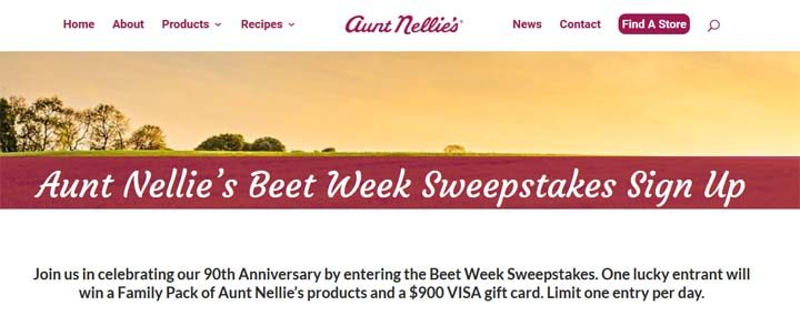 aunt-nellies-beet-week-sweepstakes