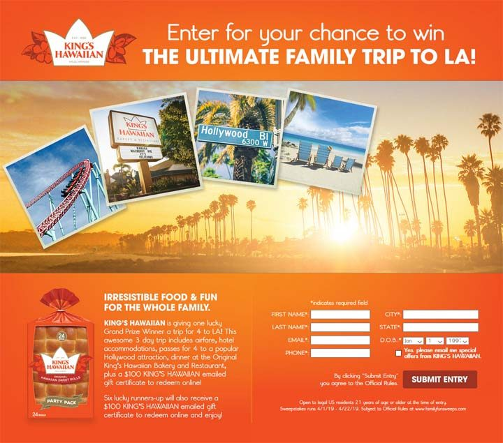 kings-ultimate-family-trip-to-la-sweepstakes