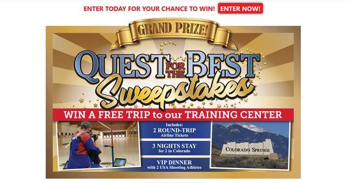 Quest for the Best Sweepstakes / USAShootingSweepstakes org