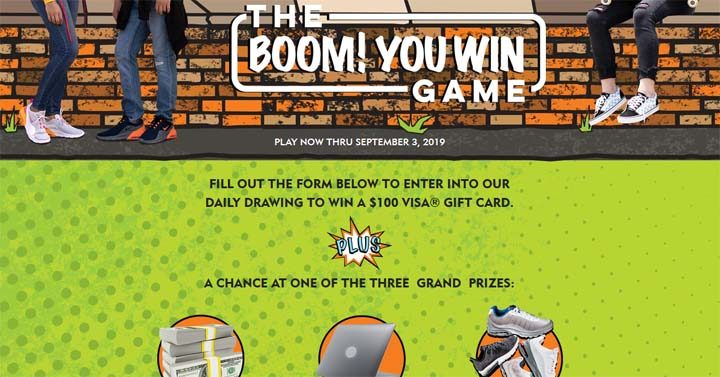 Shoe Carnival Boom! You Win Game Sweepstakes