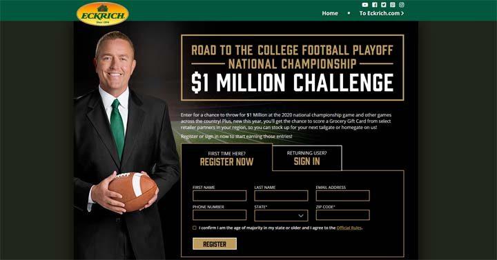 Eckrich College Football $1M Challenge