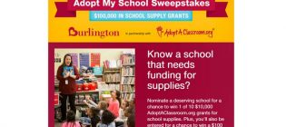 Burlington's Adopt-My-School Sweepstakes