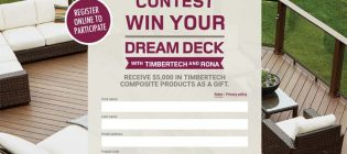 Win your dream deck with RONA & Timbertech Contest