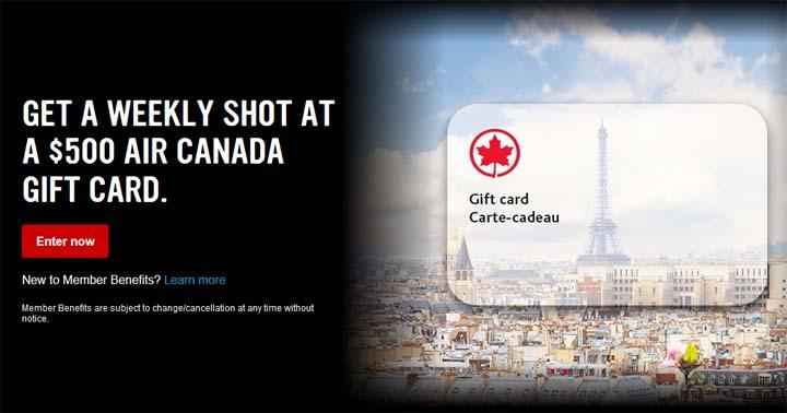 Virgin Mobile Air Canada Gift Card Contest