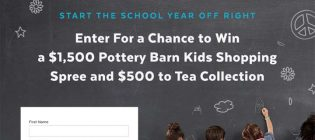 PopSugar $1,500 Pottery Barn Kids Shopping Spree and $500 to Tea Collection Sweepstakes
