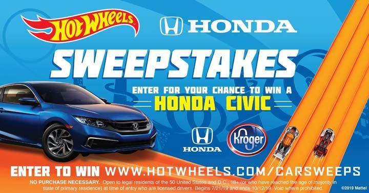 Hot Wheels Kroger Honda Civic Sweepstakes