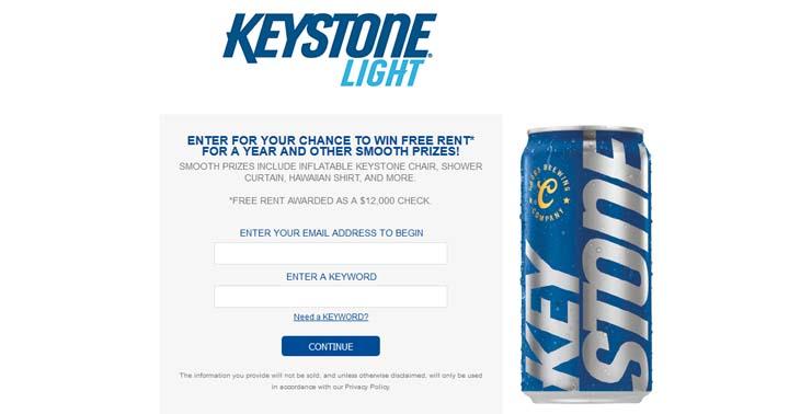 Keystone Light Fall Renter Sweepstakes