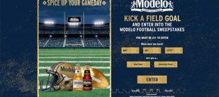 Modelo Football Sweepstakes & Instant Win Game