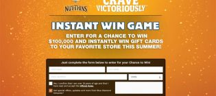 Blue Diamond Nut-Thins 2 Win Game & Sweepstakes