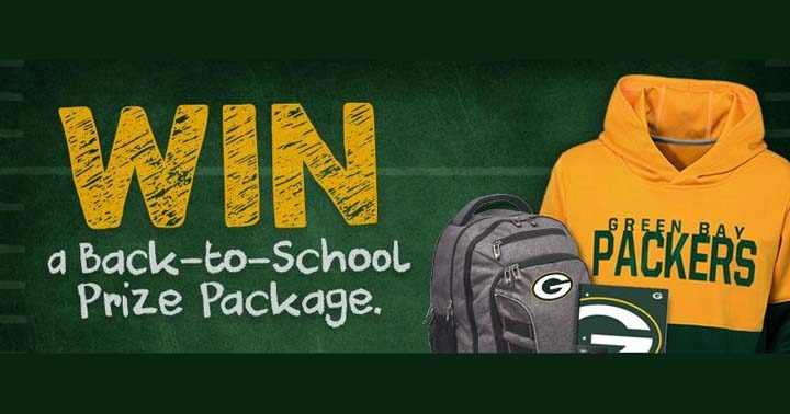 Green Bay Packers Back to School Sweepstakes