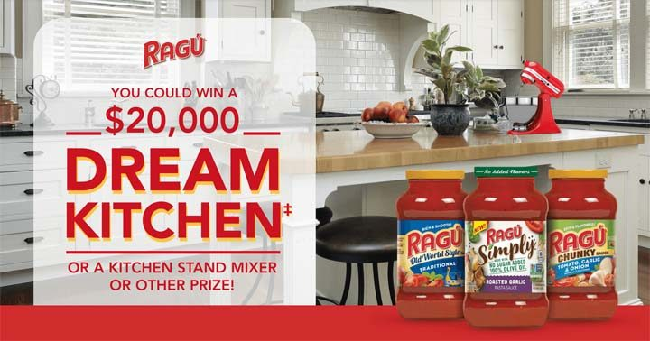RAGÚ Dream Kitchen Giveaway - RAGU com/Sweepstakes