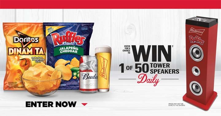 Ruffles and Budweiser Prohibition Open Pour Go Contest