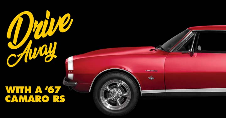 Advance Auto Parts Drive Away with a '67 Camaro Sweepstakes