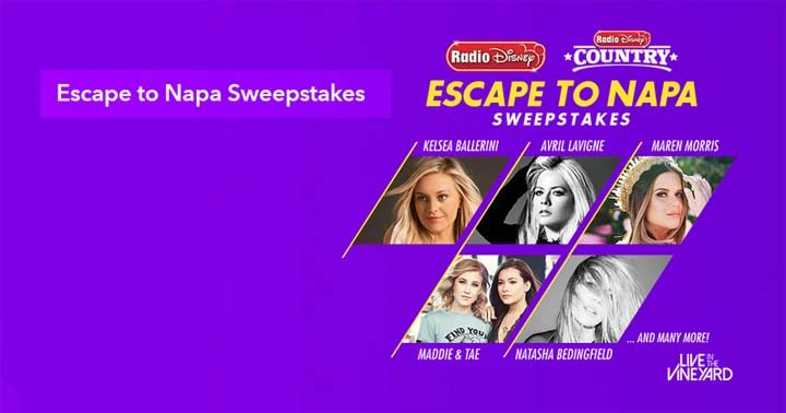 Radio Disney Escape to Napa Sweepstakes