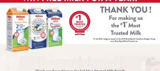 Neilson Dairy Win Free Milk for a Year Contest