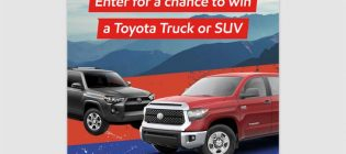 O'Reilly Toyota Truck or SUV Giveaway Sweepstakes