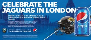 Pepsi Celebrate the Jaguars in London Sweepstakes
