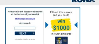 Rona Customer Satisfaction Survey Contest