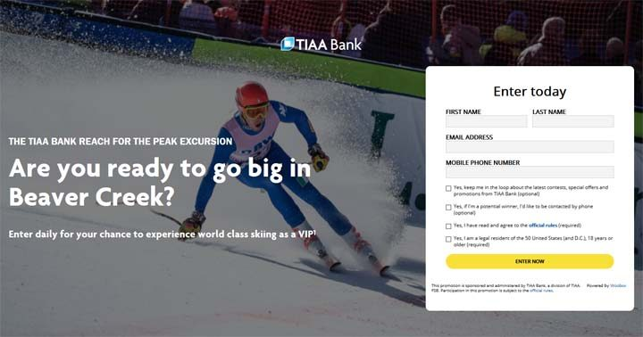 TIAA Bank Reach for the Peak Excursion Sweepstakes