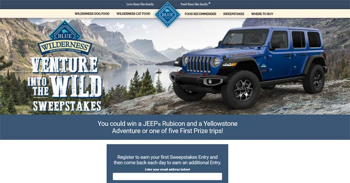 Venture into the Wild Sweepstakes