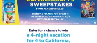 Almond Breeze Toy Story 4 BreakfastBFFs Sweepstakes