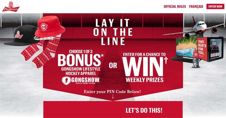 Budweiser Lay it on the Line Contest