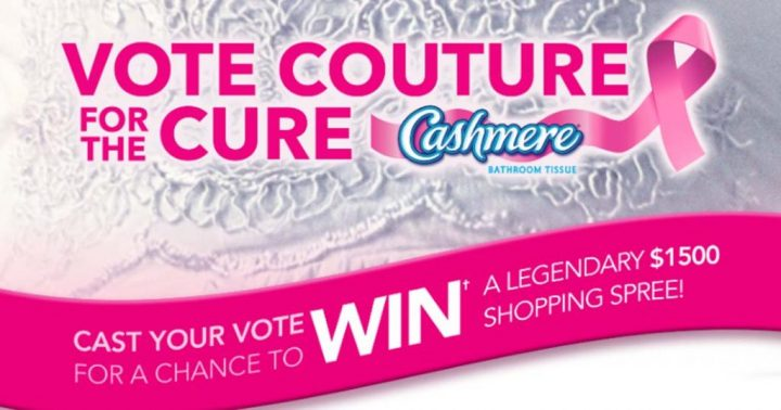 Cashmere Vote Couture for the Cure Contest