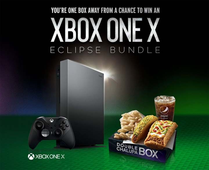 Taco bell and Xbox Game Sweepstakes Prizes